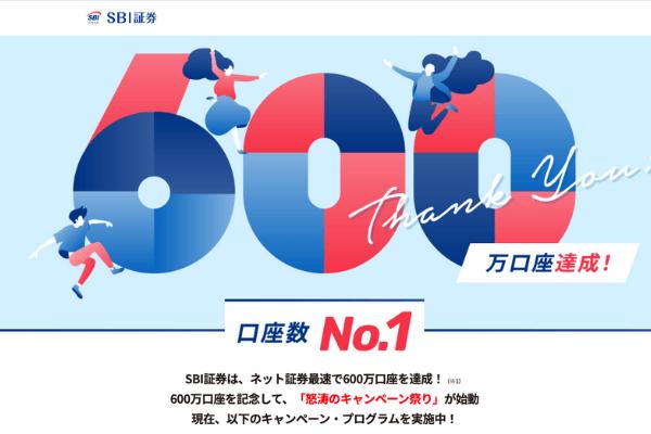 SBI証券,怒涛のキャンペーン祭り