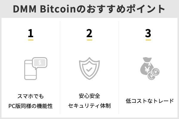 DMM Bitcoinおすすめポイント